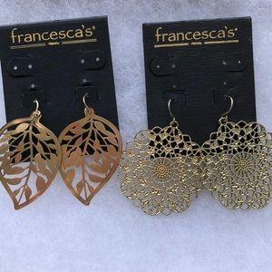 Francesca's•Gold Earrings